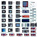 ELEGOO Kit DE 37-en-1 Module Capteur V2.0 avec CD Tutorial Complet et Accessible-Composants Electroniques Sensors Accessoire Education pour Arduino Raspberry Pi Débutants et Professionnels DIY