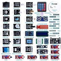 Nom du produit : Kit de 37-en-1 Modules Sensors V2.0100% adapté au débutant avec les Arduino, Raspberry Pi et STM32. Mais veuillez noter que nous ne fournissons sur notre CD, uniquement les tutoriels pour Arduino. Les tutoriels pour utiliser le Raspb...