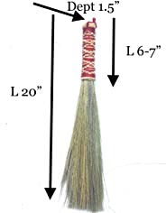 SKENNOVA - 20-inch of Thai Natural Dusting Brushes Kong Grass Bamboo Stick Handle 100% Handmade with Eco-Friendly Housewarmi