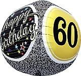 60th Birthday Sphere Helium Foil Balloon...