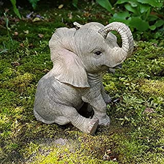 Deko Figur Elefant Afrika Dekoration Elefantenfigur Wildlife Animals Africa IM3675A
