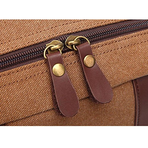 Rucksack Männer Persönlichkeit Retro Leinwand Reisetasche Mode Black