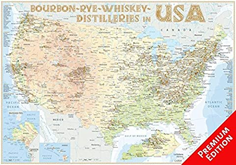 Whiskey Distilleries USA - Poster 100x70cm Premium Edition: The Whisky