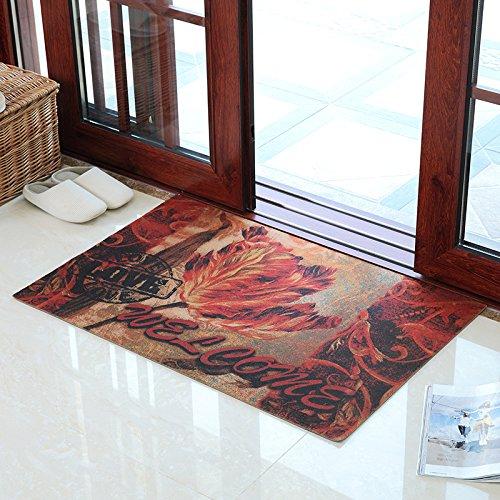 KOOCO modernen chinesischen Stil Home Tür Mat Mat Staub wischen Tür Eingangsbereich Rub Boden Staub Mat Mat, 58 * 88 cm, Blumen