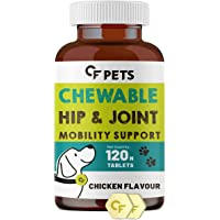 CF Pets Chewable Hip and Joint Tablet with Glucosamine, Chondroitin & MSM - Complete Mobility Support & Joint Support…