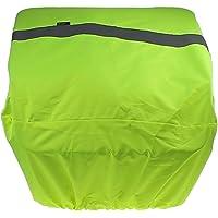 P4B   Regenschutz Fahrradkorb - Fahrrad Korbabdeckung   Reflex Neongelb   Wasserabweisende Fahrradkorb Abdeckung mit…