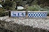 2 Schlüsselanhänger Duo Schlüsselband Wollfilz hellgrau Fußball weiß blau Geschenk!