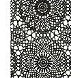 Klebefolie - Möbelfolie Spitzen Design schwarz - 45 cm x 200 cm