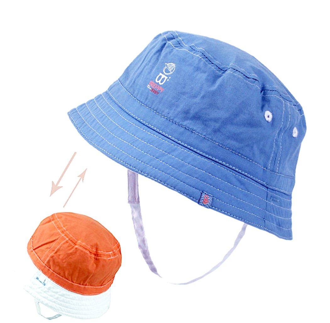 Xiaoyu 2 en 1 sombreros unisex de doble cara del sol del bebé, bebé y muchachos de los muchachos del niño 1