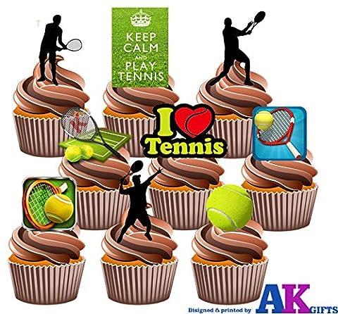 Pack de Fête–36x 36x Balle de tennis Silhouette mâle Lecteur