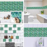 Doublelift 10pcs Home Decor Weihnachten Element Weihnachtsdekoration Wohnzimmer Badezimmer Küche Wandaufkleber selbstklebende wasserdichte Marmor Mosaik Wandkunst Küche Fliesen Aufkleber