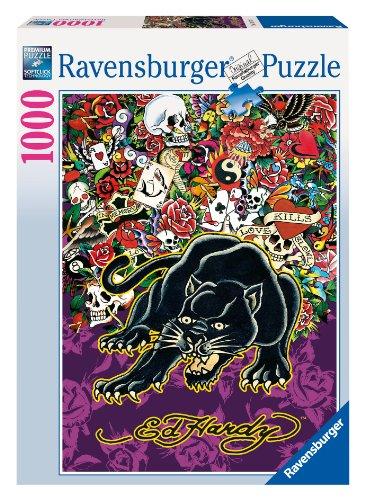 Preisvergleich Produktbild Ravensburger 191741 - Ed Hardy, Black Panther - 1000 Teile Puzzle