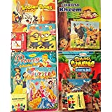 Shopkooky Drawing Book Set Combo Of Puzzle, Color And Drawing Book (15 Pages) / Return Gift / Birthday Gifts Online - Pack Of 12