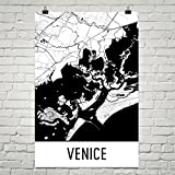 "Modern Map Art Venedig-Plakat, Venedig Kunstdruck, Venedig Wand-Kunst, Venedig Karte, Venedig Stadtplan 24"" X 36"""