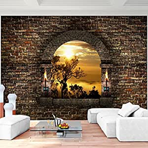 Fototapete fenster landschaft 396 x 280 cm vlies wand - Tapeten bei amazon ...