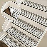 CCNIU Treppenhaus Aufkleber, Wohnzimmer Bad Boden Aufkleber DIY Selbstklebende Treppenstufe Pad Abnehmbare Farbe Streifen PVC Wasserdicht Rutschfeste GefäLschte Teppich Dekoration Wandaufkleber,6PCS