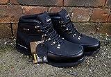 Sicherheitsschuhe für Damen und Herren, mit Stahlkappe, aus Leder, für die Arbeit, Stiefeletten, Stiefel, schwarz, 8