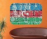Azerbaijan Flagge Wandbild Land Asien Wandaufkleber Wandsticker selbstklebendes Wandtattoo Wohnzimmer Aufkleber 11B376, Wandbild Größe B:144x96cm