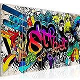 Bilder Graffiti Streetart Wandbild 150 x 60 cm Vlies - Leinwand Bild XXL Format Wandbilder Wohnzimmer Wohnung Deko Kunstdrucke Bunt 5 Teilig - MADE IN GERMANY - Fertig zum Aufhängen 004556b