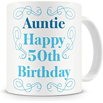 Auntie Happy 50th Birthday Mug