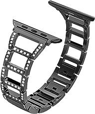 für Apple Watch Armband, ITSHINY Strap Band Uhrenarmband Schlaufe Smart Watch Armbänder mit Metallschließe für Iwatch Series 3/2 / 1