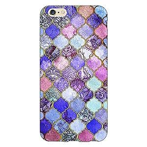 Jugaaduu Purple Moroccan Tiles Pattern Back Cover Case For Apple iPhone 6 Plus