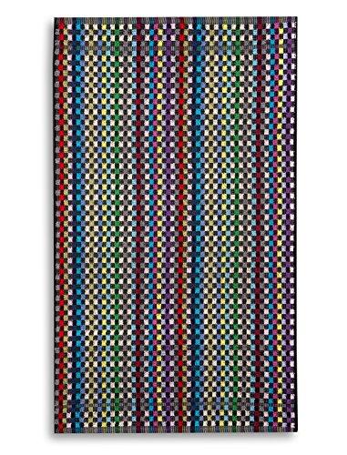 KRACHT, Frottiertuch, Restgarntuch, ständig wechselnde Farben, Baumwolle mehrfarbig, Edition ziczac-affaires, ca.45x90cm