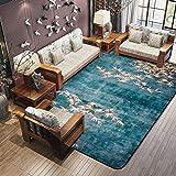 lili Chino Moderner Wohnzimmer Schlafzimmer Kopfteil Teppich groß Pflaster Rechteck (Farbe: B, Größe: 120 x 180 cm)