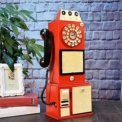 PENG Retro Metall-Handwerk Telefon photography Retro dekorative Requisiten Requisiten Dekoration (Waffe Dekorative)