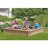Holz-Sandkasten 150x150 cm aus Lärchenholz von Gartenpirat®, unbehandelt