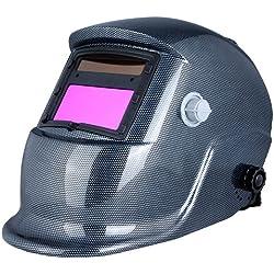 KKmoon Casco Solar-Alimentado de Soldadura de Oscurecimiento Automático Máscara de Soldadores de Arc Tig Mig Molienda
