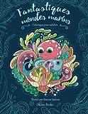 fantastiques mondes marins coloriages adultes plong?e zen dans les profondeurs des oc?ans animaux sir?nes nature