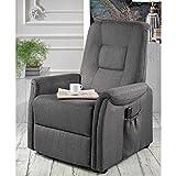 Pharao24 TV Sessel in Grau elektrisch verstellbar mit Aufstehhilfe