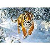 alles-meine GmbH Puzzle 500 Teile -  Siberian Emperor  - Sibirischer Tiger im Schnee - Sibiri..