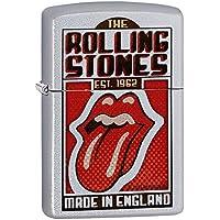 Zippo Rolling Stones Made In England Regular Lighter - Satin Chrome