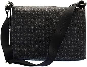 Pollini Heritage shoulder bag Pvc calf leither black