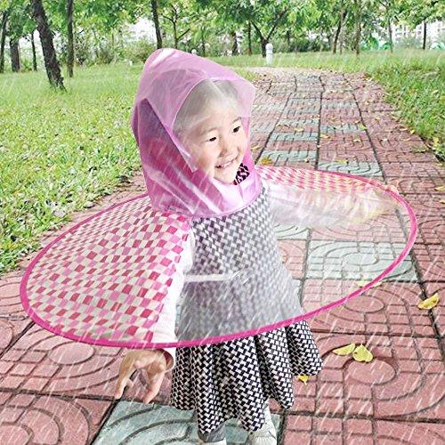 Serie Feinsteinzeug (Faltbare niedlichen Regenmantel UFO Kinder Regenschirm Hut magische Hände frei Regenmantel RDS)
