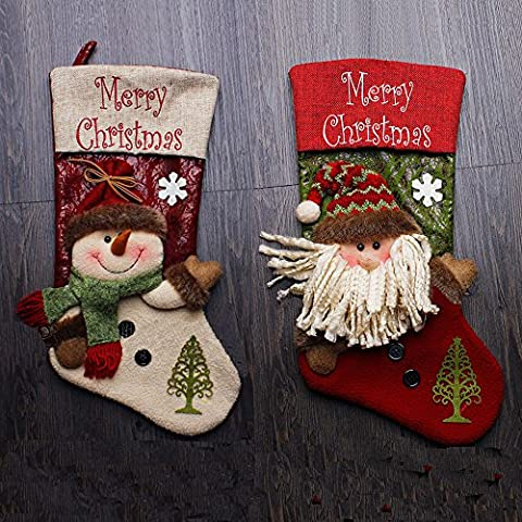 Saflyse 1pcs Weihnachtsstrumpf schneemann Weinachtsmann Geschenkbeutel Weihnachtsschmuck Christbaumschmuck (Stil (Süßigkeiten, Christbaumschmuck)
