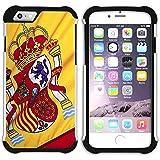 Graphic4You España bandera española Carcasa Funda de Doble Capa Revestimiento con Protección Anti-Golpes y Anti-Arañazos para Apple iPhone 6 Plus / iPhone 6S Plus