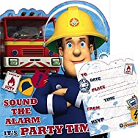 Amazon Co Uk Fireman Sam Invitations Party Supplies Toys Games