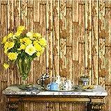 AIKE Tapeten-Weinlese-Vertikale Gestreifte Planken-Muster-3D Tapeten-Rollen-Wohnzimmer/Schlafzimmer/Fernsehwand/Bekleidungsgeschäft/themenorientierte Hotels, C