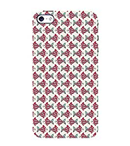 iFasho Animated Pattern black and white many lotus flower Back Case Cover for Apple iPhone 5