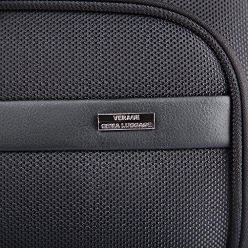 """OUBO® Verage® Elite Trolley Tasche Schwarz L-47 cm (18.5"""") mit speziellen Fächer für Laptop bis 18"""" und Handy Schlüssel usw. Spitzenverarbeitung, Teflon Beschichtung, Wasser/Öl/Dreck-abweisend Trolley Tasche"""