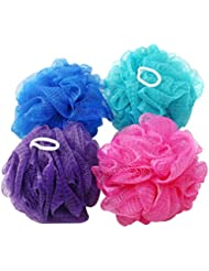 com-four 4er Mix Massageschwamm in Verschiedenen Farben