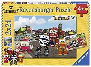 Ravensburger Italia 07822-Robot Trains Puzzle de 2x 24Piezas