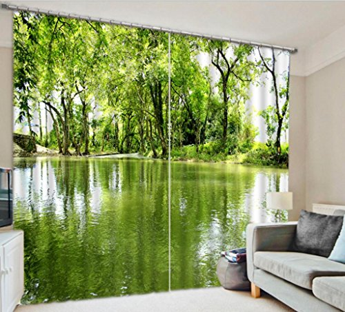 GFYWZ Alberi verdi 3D tenda Home Decor