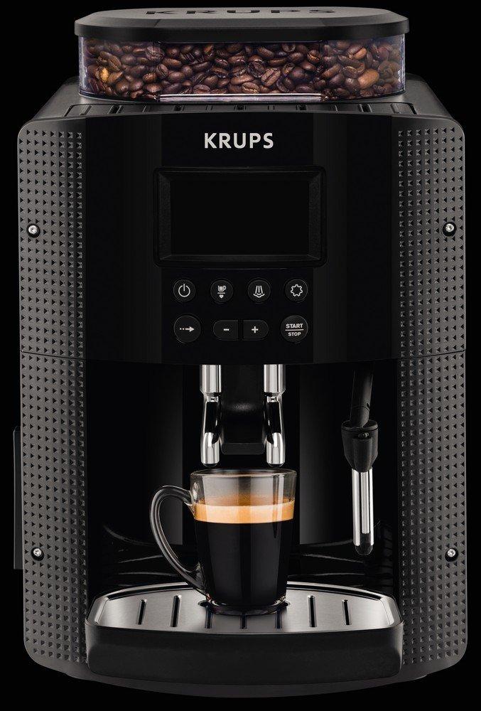 Krups-YY8135FD-Espressomaschine-vollautomatisch-kompakt-mit-Display-Schwarz