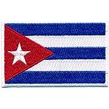 60x 35mm Cuba drapeau Caraïbes la Havane Cuba Flag Patch écusson thermocollant 0656B