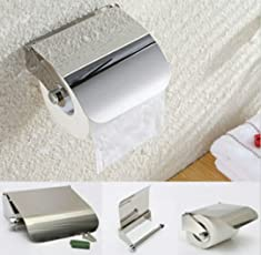 TOTAL HOME :Wall Mounted Useful Holder Commercial Tissue Portable Roll Bathroom Bar Stainless Steel Box Paper Toilet Home