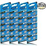 JOOBEF 40 Pack Watch Alkaline Battery Button Cell LR44 AG13 Pack of 40 Batteries